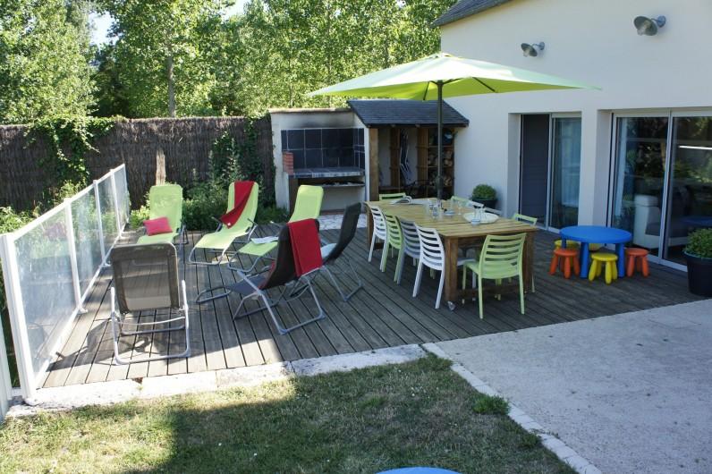 Location de vacances - Gîte à Noizay - TERRASSE