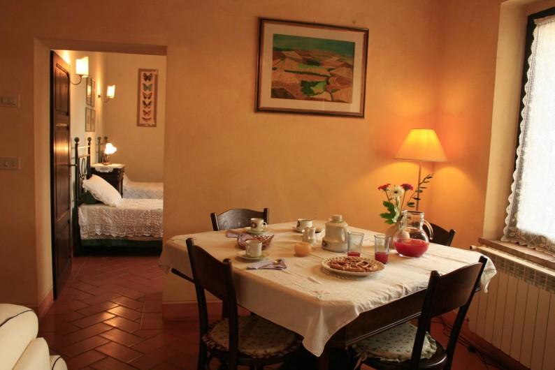 Location de vacances - Gîte à Campiglia D'orcia - Tavolo pranzo Casa Letizia