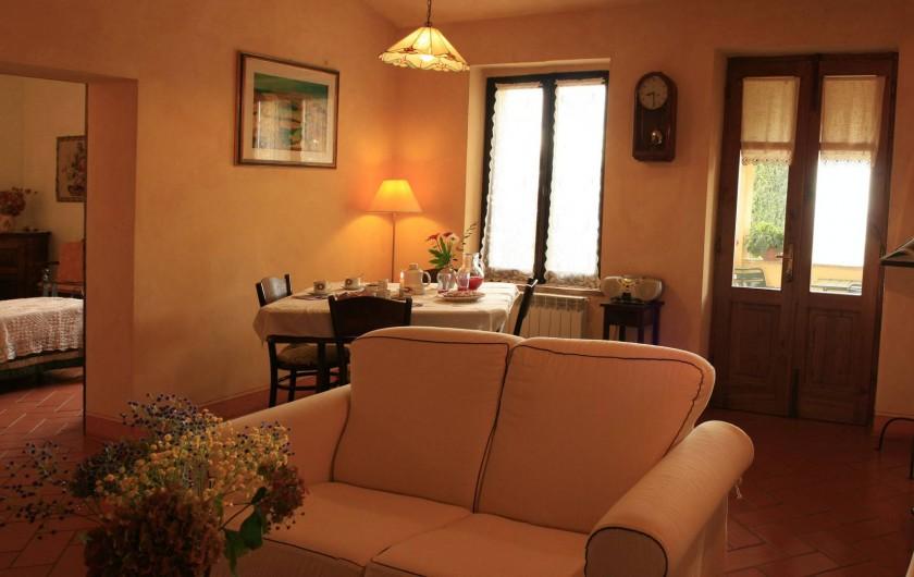 Location de vacances - Gîte à Campiglia D'orcia - soggiorno Casa Letizia