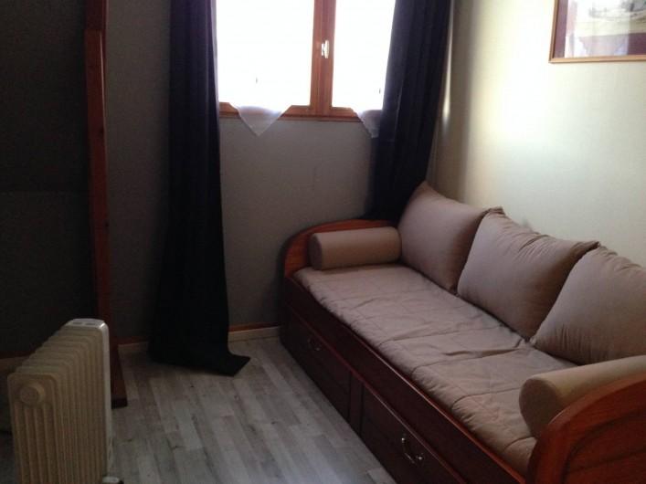 Location de vacances - Appartement à Fort-Mahon-Plage - chambre avec lit gigogne, soit 2 lits d'une personne