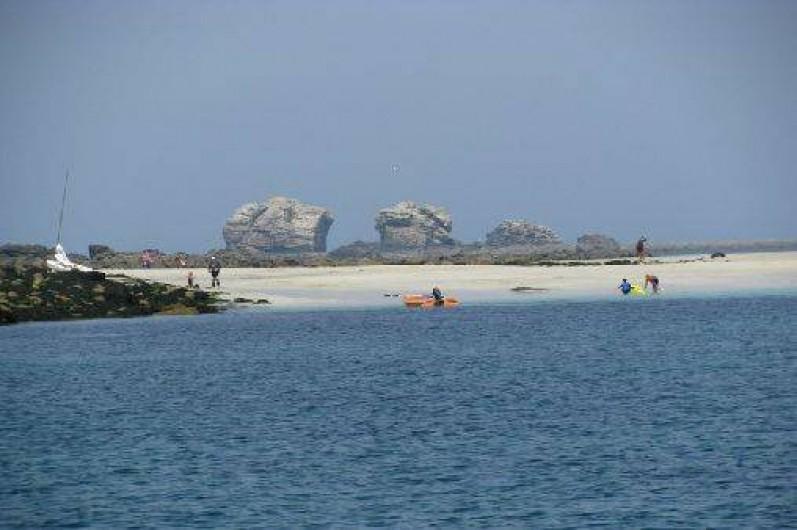 Location de vacances - Villa à Landéda - Rejoindre les îles en kayaks (location en contrebas de la maison)