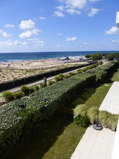 Location de vacances - Appartement à Soorts-Hossegor - appartement n°1: vue sur l'océan  depuis l'angle de la terrasse Ouest