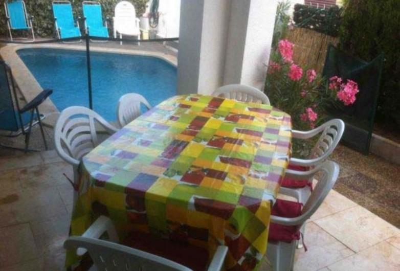 Location de vacances - Villa à Cambrils - terrasse appt 1 vue piscine