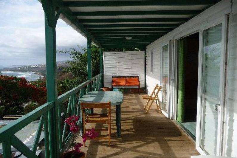 Location de vacances - Chalet à Saint-Leu - veranda vue ocean indien