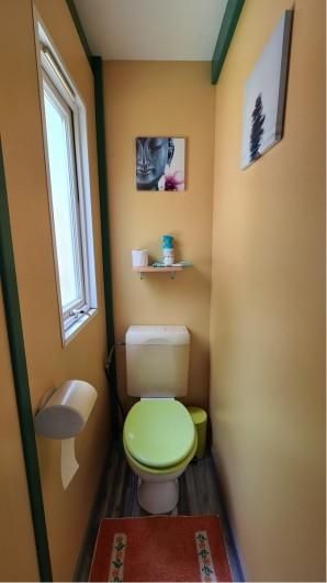 Location de vacances - Chalet à Saint-Leu - WC independant  vue sur jardin