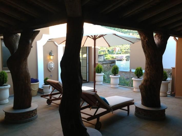 Location de vacances - Gîte à Siruela - Terraza Solarium Las Encinas
