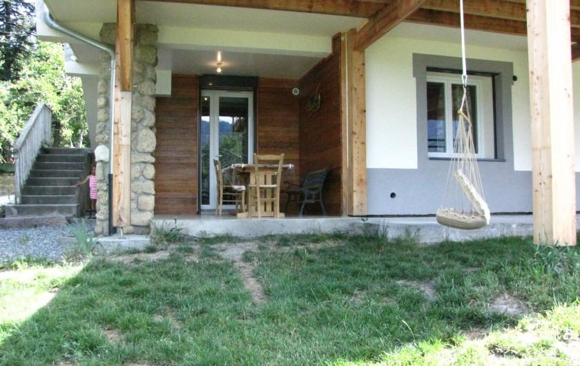 Location de vacances - Appartement à Savines-le-Lac - Terrasse et jardin extérieurs