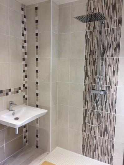 Location de vacances - Gîte à Bosville - salle d'eau avec WC rez de chaussée, accessibilité handicapé