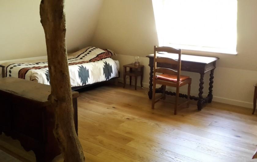 Location de vacances - Gîte à Bosville - Chambre 2 lits 90, bureau