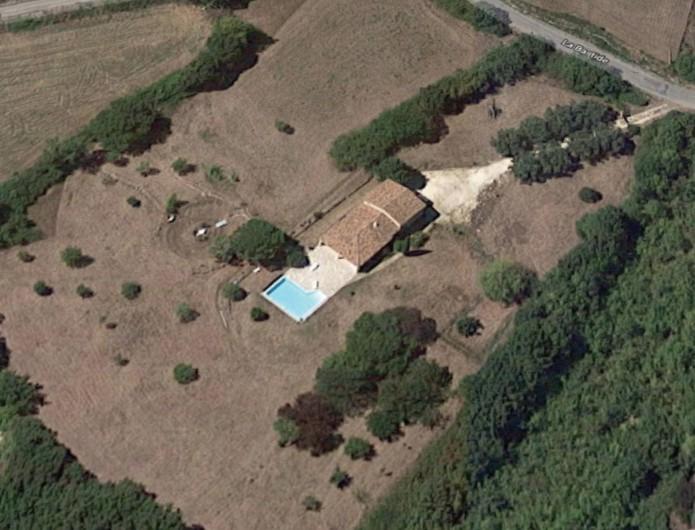 Location de vacances - Villa à Saint-Martin-sur-Lavezon - Vue aérienne