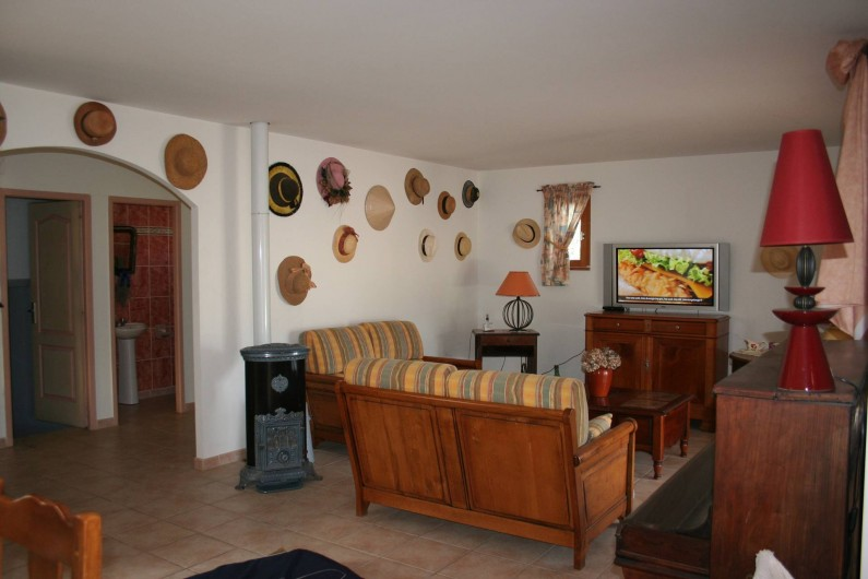 Location de vacances - Villa à Saint-Martin-sur-Lavezon - Salon