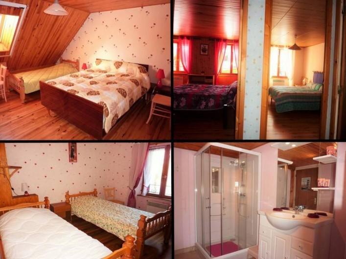 Location de vacances - Gîte à Paulhac - Une des salles de bains et les chambres