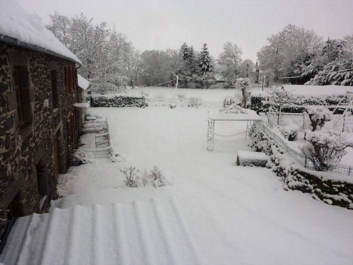 Location de vacances - Gîte à Paulhac - L'hiver la neige prend place dans notre région