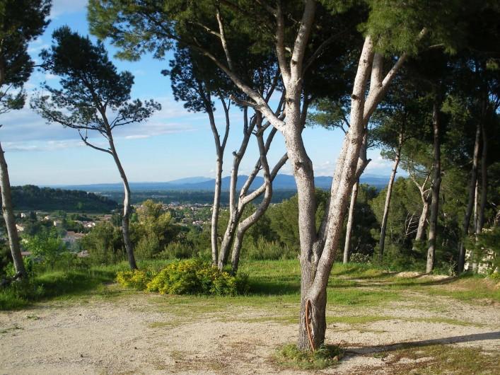 Location de vacances - Appartement à Vaison-la-Romaine - Vue imprenable sur Vercors-Alpes- dentelles de Montmirail- Mont Ventoux