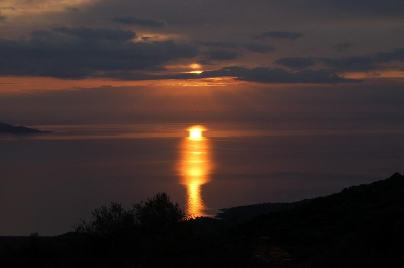 Location de vacances - Villa à Olmeto - Coucher de soleil très spécial