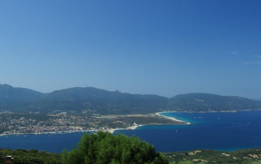 Location de vacances - Villa à Olmeto - Vue panoramique depuis les villas