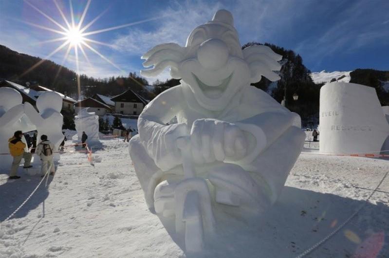 Location de vacances - Appartement à Valloire - Concours annule de sculptures sur neige, fin janvier
