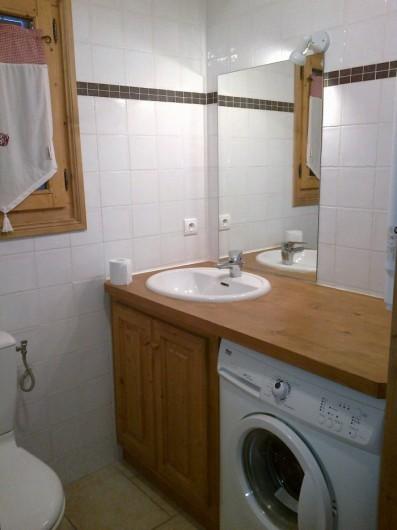 Location de vacances - Appartement à Valloire - Sdb avec machine à laver