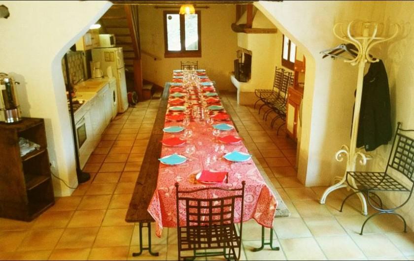Location de vacances - Gîte à Le Pont-de-Montvert - salle de groupe