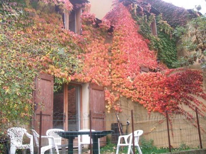 Location de vacances - Gîte à Le Pont-de-Montvert - terrasse en Automne