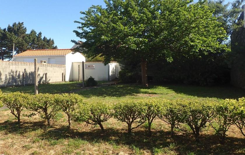 Location de vacances - Villa à Saint-Hilaire-de-Riez - 650m2 de jardin derrière la maison sans vis a vis très bien entretenu
