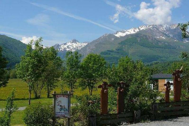 Location de vacances - Chalet à Aucun - Entrée Camping Azun Nature