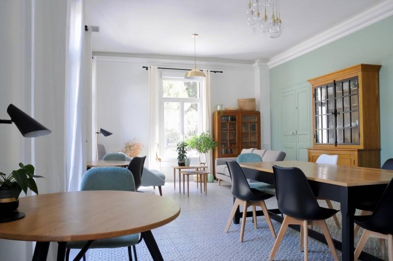 Location de vacances - Chambre d'hôtes à Frontignan - Salle à manger maison d'hôtes