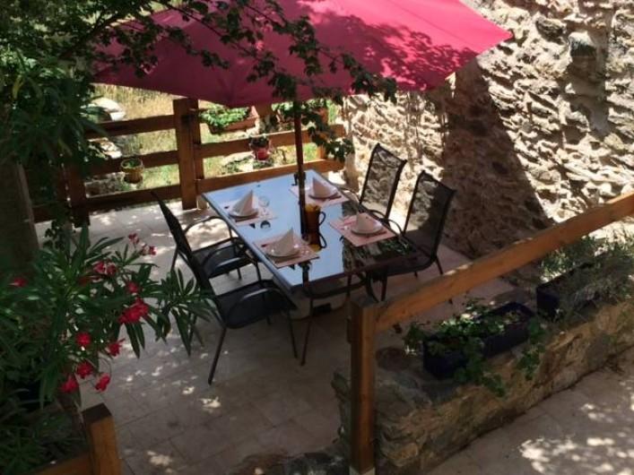 Location de vacances - Appartement à L'Albère - La terrasse