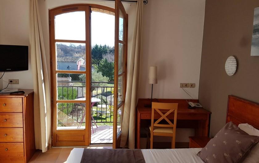 Location de vacances - Hôtel - Auberge à Saint-Jean-le-Centenier - Chambre 31 avec balcon