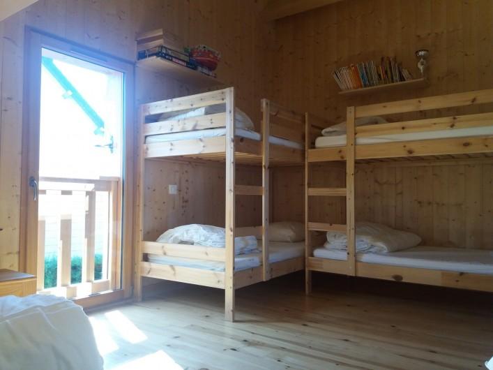Location de vacances - Chalet à Chastreix - chambre 2 (les 2 lits superposés)