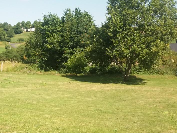 Location de vacances - Chalet à Chastreix - jardin à l'arrière du chalet
