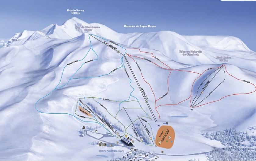 Location de vacances - Chalet à Chastreix - plan des pistes de Chastreix-Sancy
