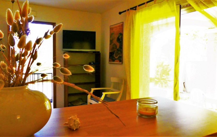 Location de vacances - Villa à Frontignan - Vue sur porte fenêtre accédant à la terrasse