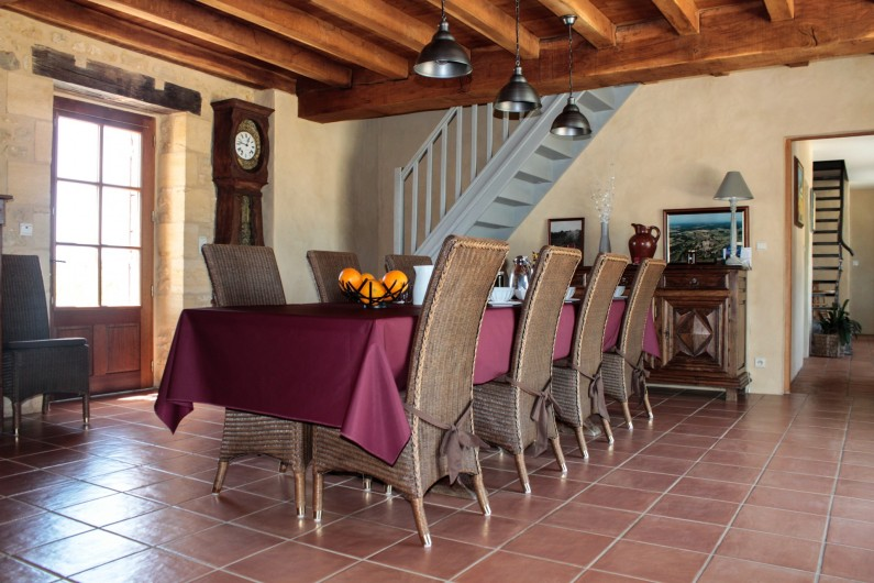 Location de vacances - Chambre d'hôtes à Saint-Avit-Sénieur - salle à manger