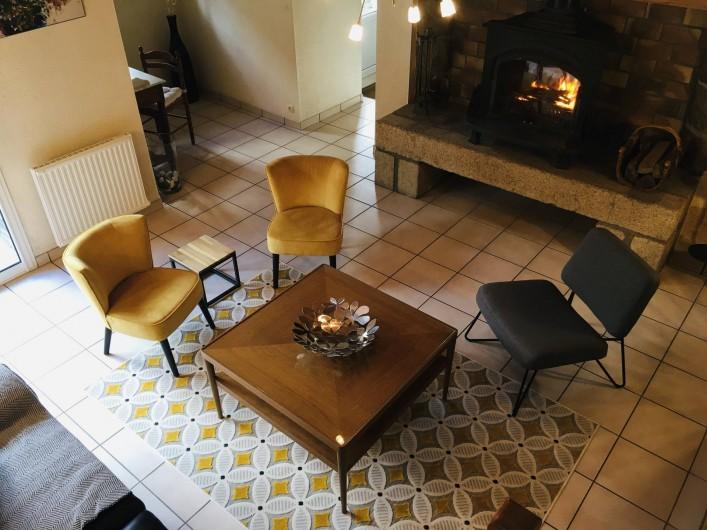Location de vacances - Maison - Villa à Roscoff - Séjour vu depuis l'escalier