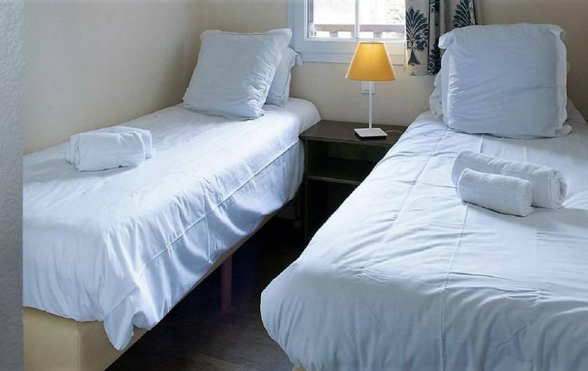 Location de vacances - Villa à Moliets-et-Maa - Chambre avec 2 lits