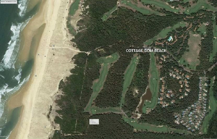 Location de vacances - Villa à Moliets-et-Maa - Emplacement du cottage Golf Beach Moliets