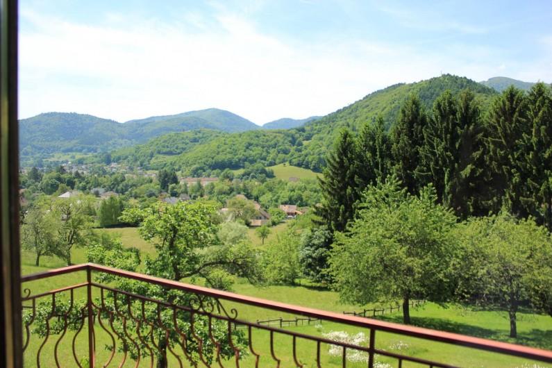 Location de vacances - Gîte à Willer-sur-Thur - vue du balcon
