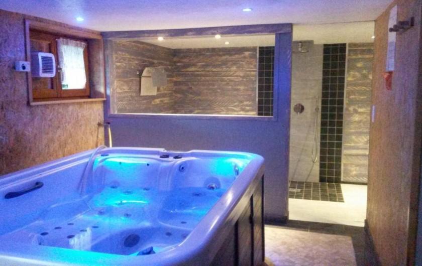 Location de vacances - Gîte à Willer-sur-Thur - spa, douche wc sous sol