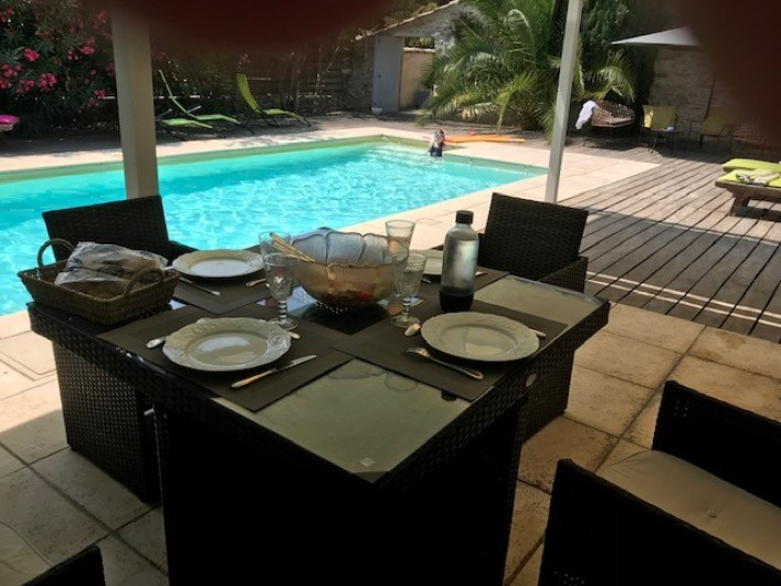 Location de vacances - Mas à Le Pin - pool house