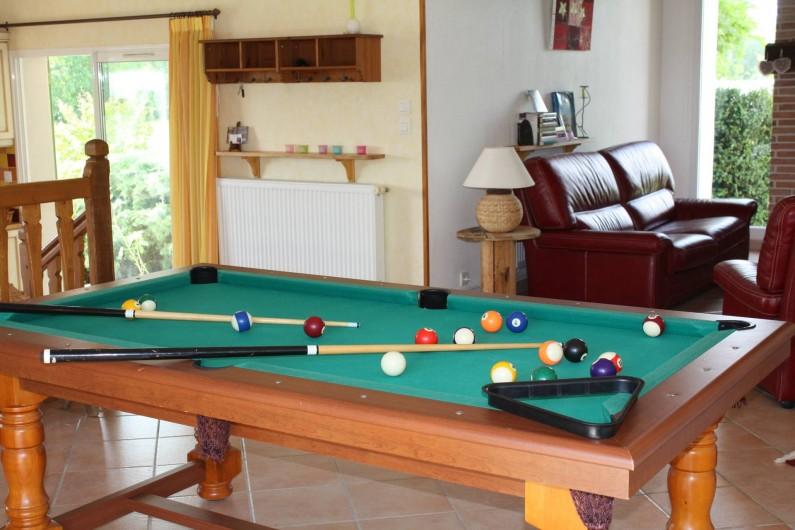 Location de vacances - Gîte à Lafrançaise - Salon billard.