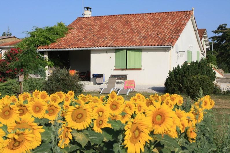 Location de vacances - Gîte à Lafrançaise - La façade de la location.