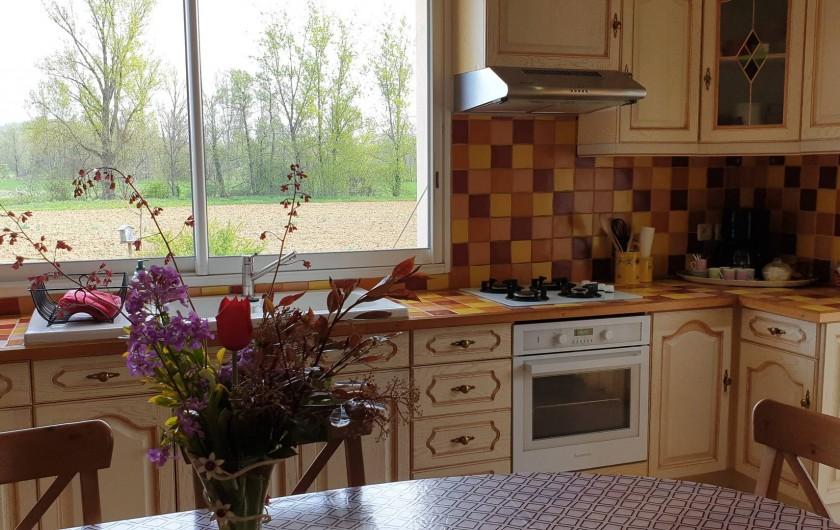 Location de vacances - Gîte à Lafrançaise - La cuisine aux couleurs chaudes.
