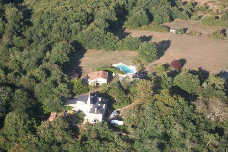 Location de vacances - Gîte à Mareuil-sur-Lay-Dissais - vue aérienne propriété