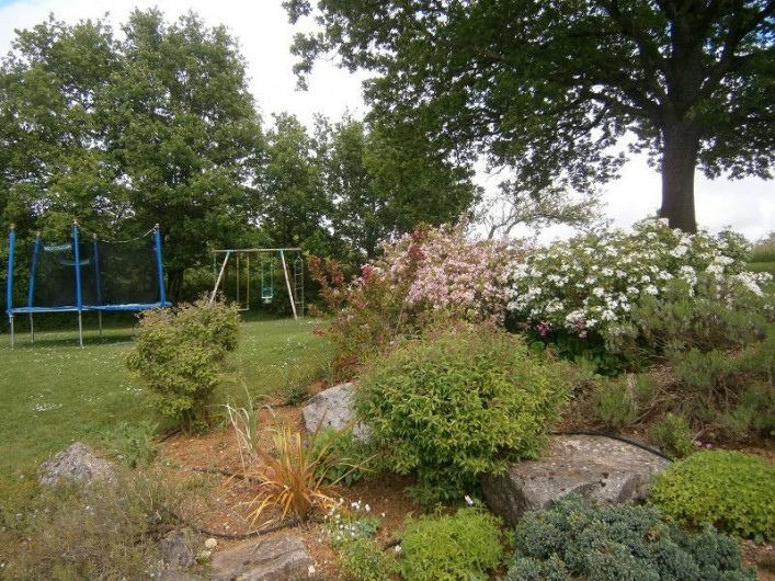 Location de vacances - Gîte à Mareuil-sur-Lay-Dissais - aire de jeux avec balançoire et trampoline