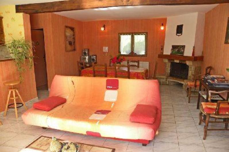 Location de vacances - Gîte à Duffort - Le salon / salle à manger