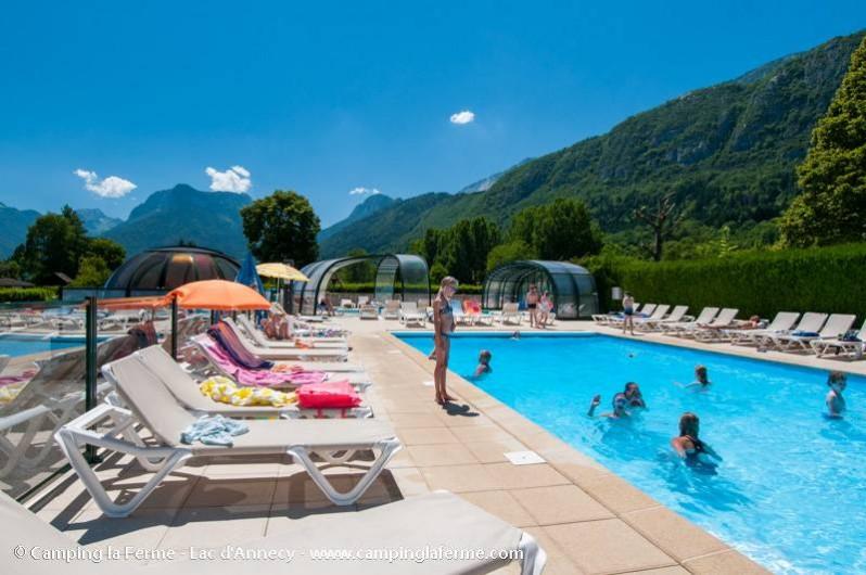 Location de vacances - Camping à Lathuile - Piscine de plein-air