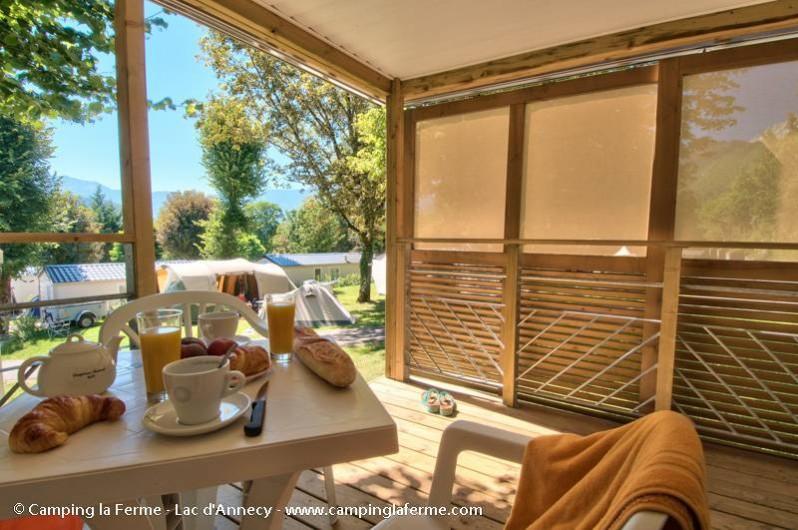 Location de vacances - Camping à Lathuile - Mobil-home pour 2 personnes