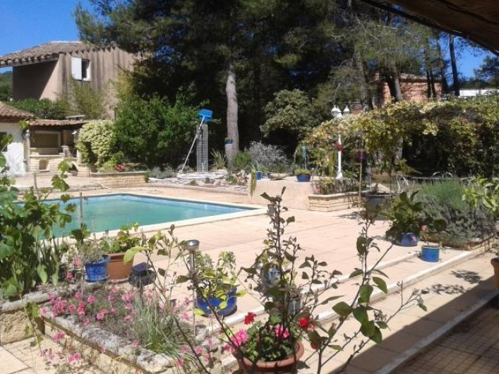 Location de vacances - Gîte à Villetelle - terrasses piscine