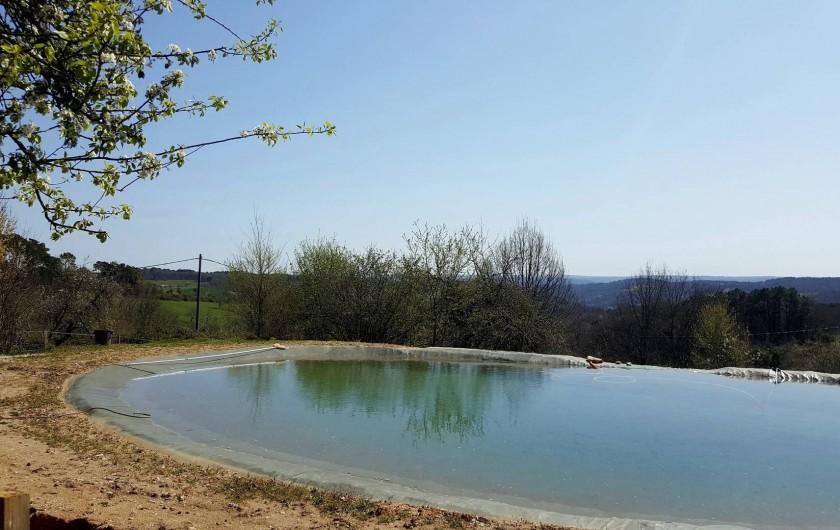 Location de vacances - Chambre d'hôtes à Auriac-du-Périgord - Bassin de baignade